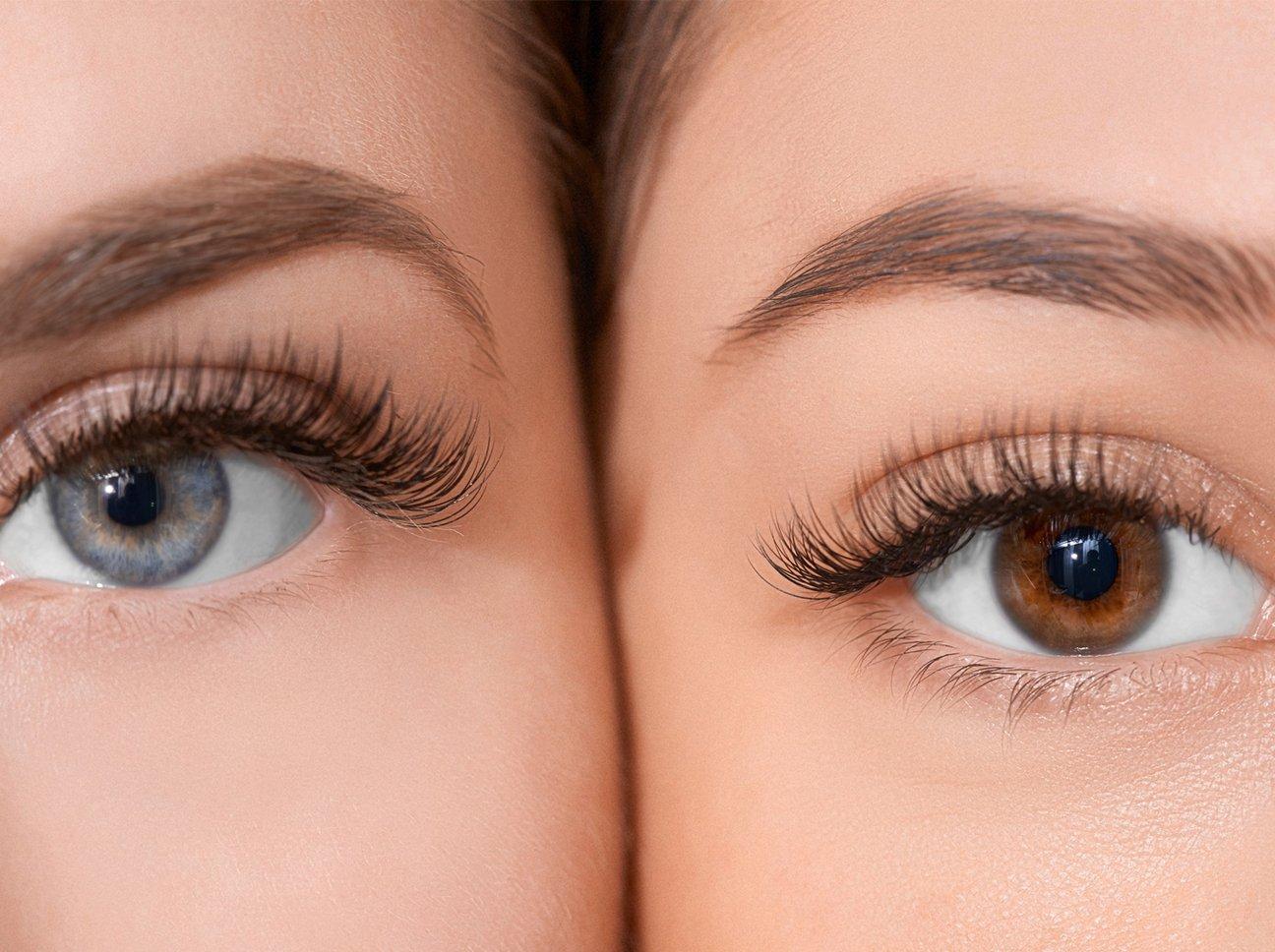 Schöne, lange Wimpernverlängerungen finden